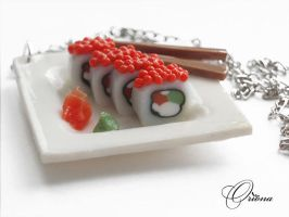 Pendant 'Rolls' 2 by OrionaJewelry