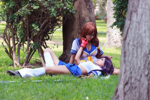 Kanu and Ryuubi Ikkitousen by AmeniDusk