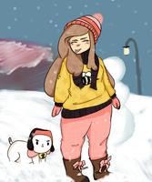 Bee and Puppycat_Snowday by iLSNerd