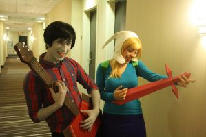 AT - Fionna and Marshall Lee by GreenTea-Cosplay