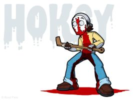 Blood Face wallpaper hokey by ivanev
