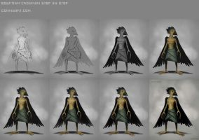 Tutorial/Step By Step - Egyptian Crowman by ConnyNordlund
