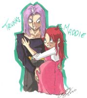 Maddie and Trunks by Swamnanthas