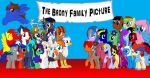 the Brony famiy Picture by Rictor1999