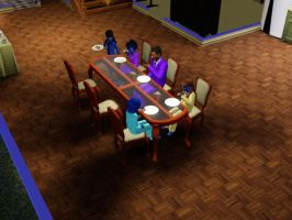 Sims 3 - Eugene cooked hot dogs for breakfast by Magic-Kristina-KW