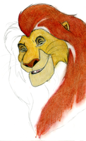 Unfinished Mufasa Commission by SpyroShurtagul