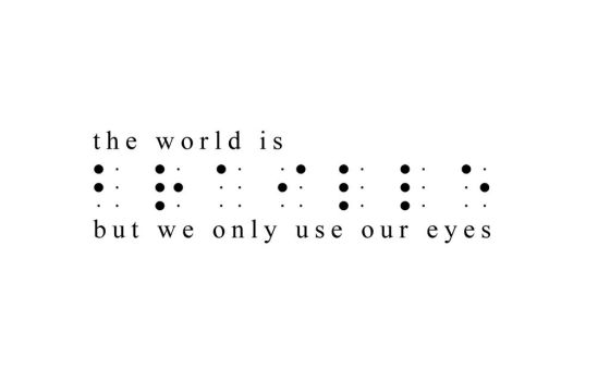 The World is Braille by reimu