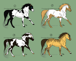 Horse Adoptables 3 by NeonFlamez
