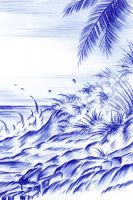 Rocky Tropical Coast by Sultzaberger