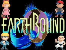 Earthbound Background by Kooroe