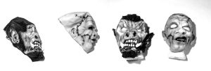 Horror Masks by Bigclownshoes