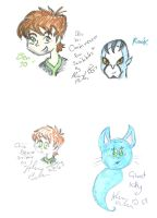 Ben Ten Scribble And Ghost Kitty by Kittychan2005