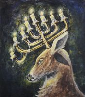 CandleWick Stag by WendyMartin