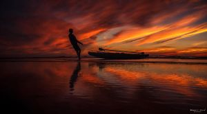 A Fisherman II by MahmoudElkourd