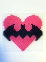 Batman Valentine by geek-stitch