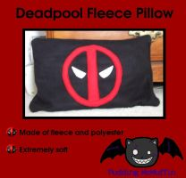 Deadpool Pillow by PuddingMcMuffin