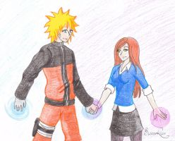 Xover - Naruto and Gwen by BloodyRiley