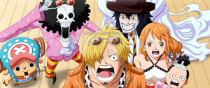 One Piece 810 - Curly Hat Pirates arrive by SergiART
