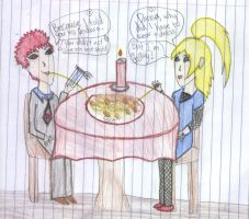SasoDei 'Candle-light Dinner' by Willowkit17