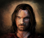 The Lord Of The Rings - Aragorn by SessaV