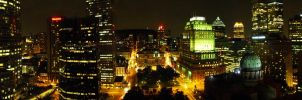 Montreal at night panorama by joshonator12