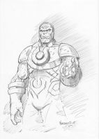 Darkseid pencils by MenguzzOArt