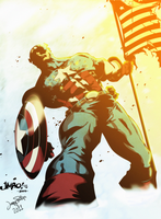 Captain America colored by Tuskat