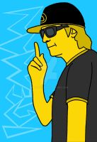 Simpsonized Kimi by engineerJR