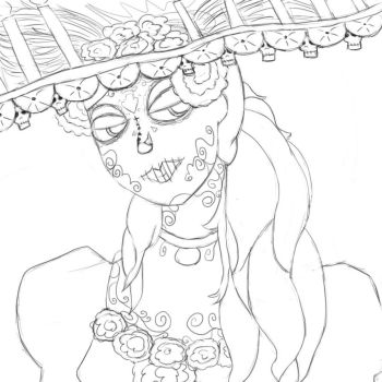Book Of Life Sketch by aboredlifeisboring