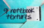 9 notebook textures by Madika555