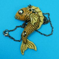 Koi Fish Necklace by beatblack