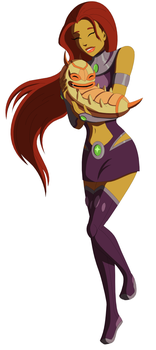Young Justice: Starfire and Silkie by AMTModollas