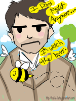 Castiel Watchs the Bees by Kafae-Latte