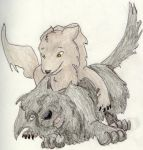 Moony and Padfoot puppies by Moony-Admirers