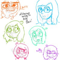Different me sketches by deerrs