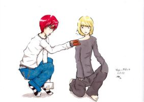 Death Note: Mello has a friend by apeanutbutteredthing