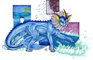 .:Vaporeon:. by ARVEN92