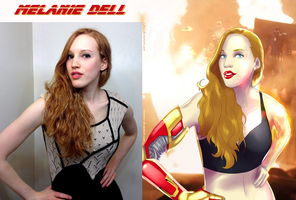 Melanie Dell Is Pepper Potts By Ulics by zenx007