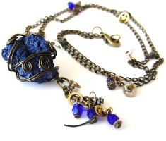 Space and Time Necklace by sojourncuriosities