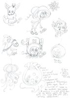 Fandom Pencil Scribbles For Christmas 2 by Kittychan2005