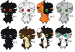 Free Adoptables batch 115 (Closed) by Kitty-of-Doom524