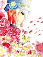 Beautiful flower- watercolor by Tsuchiichi