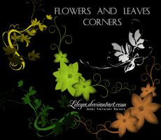 Flowers and Leaves Corners by Lileya