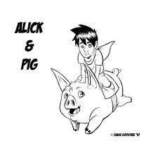 Alick and Pig by Cgoose