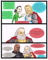 Thor Loki Odin - setting a good example by puking-mama