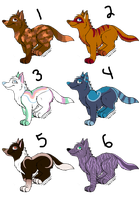 Adoptables 4-15 points OPEN by Emaliee