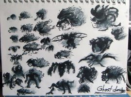 ghost monster silh designs by HeribertoMartinez