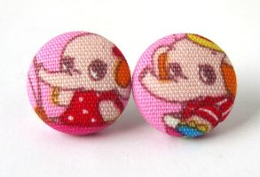 Elephant earrings kawaii children kids bright pink by KooKooCraft