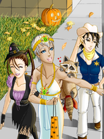 A Street Fight Halloween by VampireMell