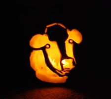 Cow Pumpkin (2013) by TinLady